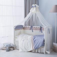 Комплект  в кроватку Котята 6 предметов-Голубой
