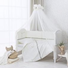 """Комплект в кроватку """"Le petit bebe""""6 предметов-Оливковый"""