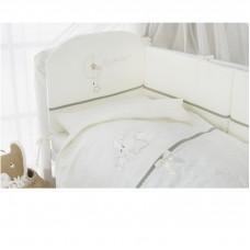 """Комплект постельного белья в кроватку """"Le petit bebe"""" 3 предмета-Олива"""