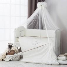 """Комплект в кроватку """"Le petit bebe""""6 предметов-Кофейный"""