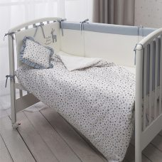 Комплект в кроватку Perina  Little Forest 7 пр аквамарин