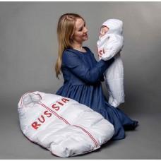 """Конверт на выписку """"RUSSIA"""", пуховый"""