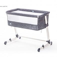 Детская приставная кроватка Nuovita Accanto- Тёмно-серый лён