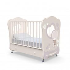 Детская кровать Nuovita Cute Bear swing - Ваниль (поперечный маятник)