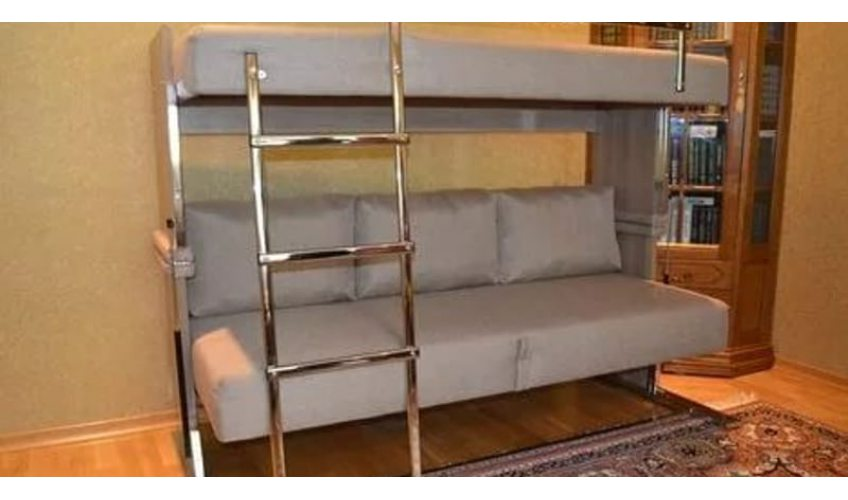 Двухъярусная кровать – идеальное решение для небольшого пространства