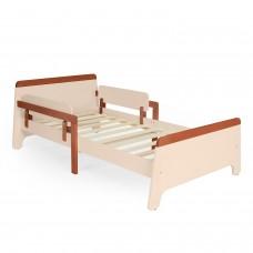 Подростковая кровать  Stanzione Nave Lungo 160x80 - Слоновая кость-Темный орех