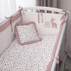 Комплект в кроватку Perina  Little Forest 7 пр карамель