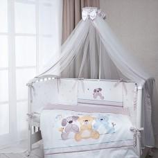 Комплект в кроватку Венеция (три друга) 7 предметов