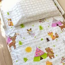 """Комплект постельного белья в подростковую кровать  160x80 """"Аппачи"""" Зпр"""