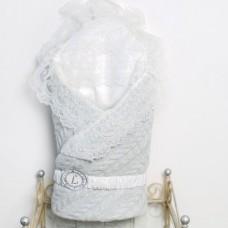 Одеяло-конверт трикотажный из вязаного полотна - Серый