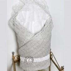 Одеяло-конверт трикотажный из вязаного полотна - Жемчужный