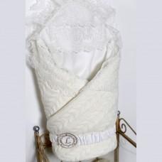 Одеяло-конверт трикотажный из вязаного полотна - Кремовый