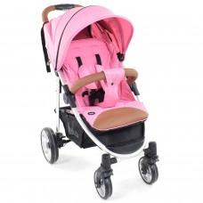 Прогулочная коляска Nuovita Corso - Розовый, Серебристый