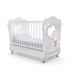 Детская кровать Nuovita Cute Bear swing - Белый (поперечный маятник)