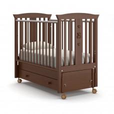 Детская кровать Nuovita Fasto Swing - Темный орех (продольный маятник)