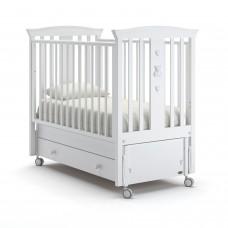 Детская кровать Nuovita Fasto Swing - Белый (продольный маятник)