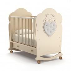 Детская кроватка Nuovita Fortuna Dondolo - Слоновая кость (качалка)