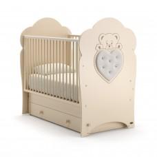 Детская кроватка Nuovita Fortuna Swing - Слоновая кость (поперечный маятник)