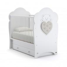 Детская кроватка Nuovita Fortuna Swing - Белый (поперечный маятник)
