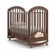 Детская кроватка Nuovita Grano Dondolo - Темный орех (качалка)