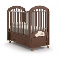 Детская кроватка Nuovita Grano Swing - Темный орех (продольный маятник)