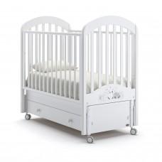 Детская кроватка Nuovita Grano Swing - Белый (продольный маятник)