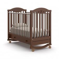 Детская кроватка Nuovita Lusso Dondolo - Темный орех (качалка)