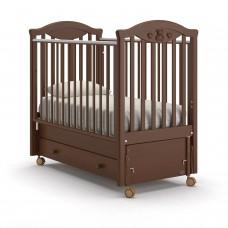 Детская кроватка Nuovita Lusso Swing - Темный орех (продольный маятник)