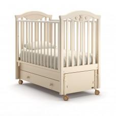 Детская кроватка Nuovita Lusso Swing - Слоновая кость (продольный маятник)