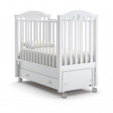Детская кроватка Nuovita Lusso Swing - Белый (продольный маятник)