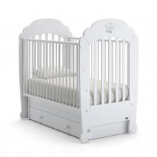 Детская кроватка Nuovita Parte Swing - Белый (поперечный маятник)