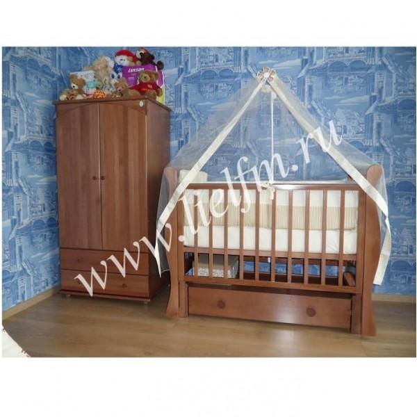 Детская кроватка маятник продольный АБ 21.3 Лаванда-Лель