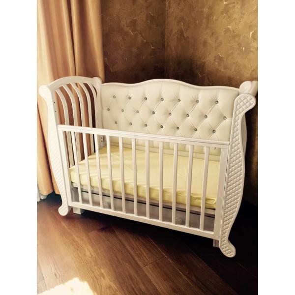 Детская маятниковая продольная кровать Магнолия с декором БИ 555.3 №019