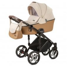 Детская коляска Nuovita Carro Sport 2 в 1 - бежевый-коричневый