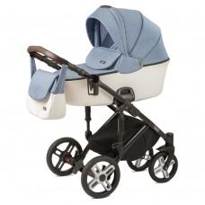 Детская коляска Nuovita Carro Sport 2 в 1 - джинсовый-белый
