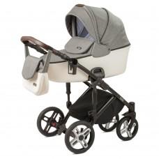 Детская коляска Nuovita Carro Sport 2 в 1 - серый-белый