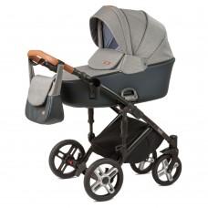 Детская коляска Nuovita Carro Sport 2 в 1 - серый-черный