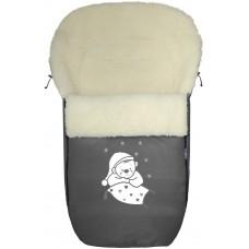 Конверт меховой №S77 Exlusive Bear  melange fabric