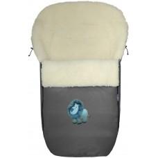 Конверт меховой №S77 Exlusive Lion  melange fabric