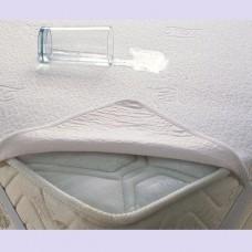 Наматрасник непромокаемый, 'QuAqua' с резинками по углам, махра 120*60