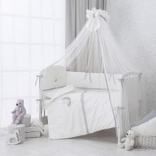 Комплект постельного белья в кроватку «Bonne Nuit» 6 предметов-Шампань