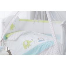 Комплект постельного белья в кроватку Джунгли 3 предмета-Цветное