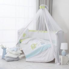 """Комплект постельного белья в кроватку """"Джунгли""""7 предметов-Цветное"""